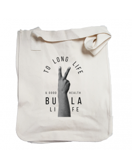To long life and good health Organic Cotton Canvas Market Tote