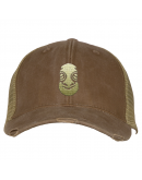 Khaki Tiki Distressed Trucker